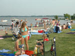 Thousands lined the beach for a day of fun and games prior to the fireworks